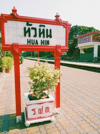 Hua Hin Railway Station : the label of Huahin