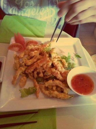 Hoki sushi : tempura veg
