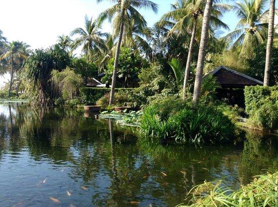 Anantara Mui Ne Resort: Le lagon entre l'hôtel et la piscine, devant la terrasse du restaurant