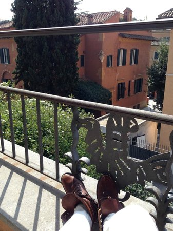 Hotel Aventino: View from balcony