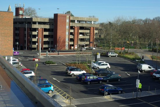 Premier Inn Trowbridge Hotel: View from Room 240 of private UKPC car park.