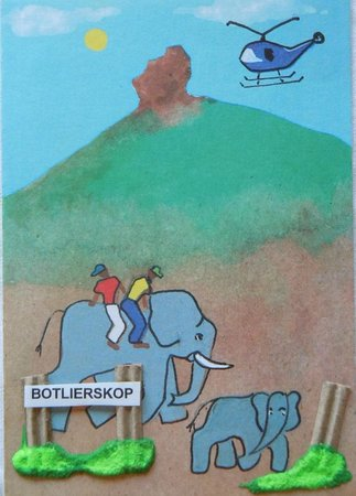 Botlierskop Private Game Reserve: Welcome card - handwritten, a wonderful personal touch