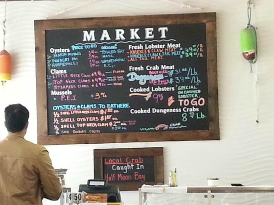 New England Lobster Market & Eatery: The menu