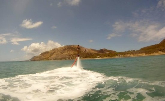 Beach Addiction St. Kitts Nevis: Flyboarding with Beach Addiction