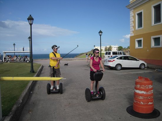 Segway Tours of Puerto Rico: Fellow adventurers using a GoPro camera.