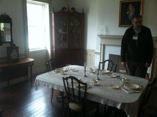 Joseph Priestley House : Dinning room.