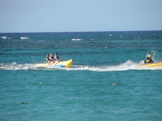 Iberostar Bavaro Suites: Banana boat rides at Iberostar.
