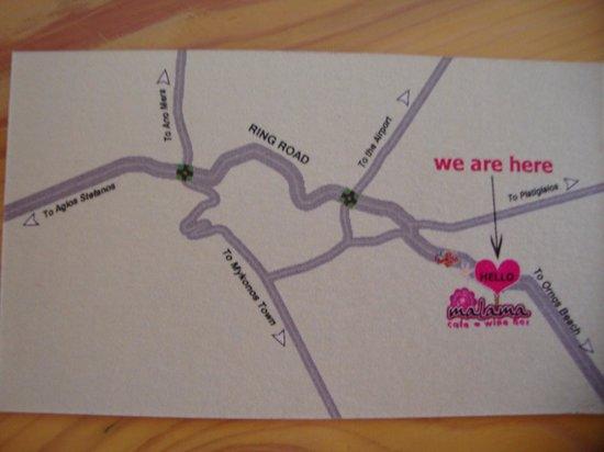 Malama Cafe: location map