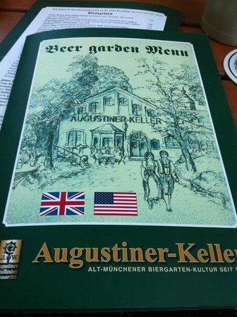 Augustiner-Keller: manù