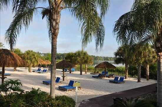 Bahama Bay Resort Orlando by Wyndham Vacation Rentals: Beach by the lake