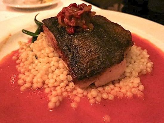 Crossings - Black Cod - couscous, chorizo, piquillo by Executive Chef Lalo Sanchez - photo by Ma