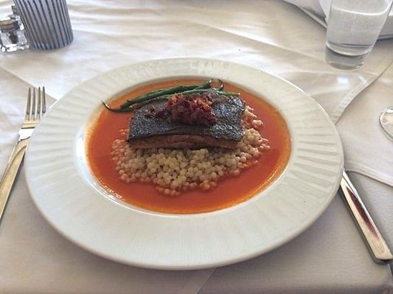 Crossings - Black Cod - couscous, chorizo, piquillo by Executive Chef Lalo Sanchez - photo by Bo