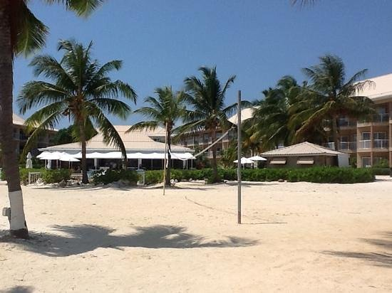Holiday Inn Resort Grand Cayman: from beach facing hotel