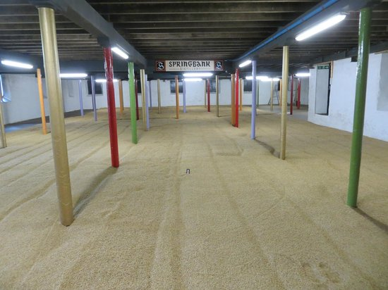 Springbank Distillery: Warehouse for sprouting barley or  parties
