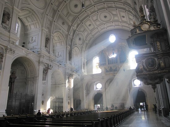 Michaelskirche: Shafts of light streaming into the church
