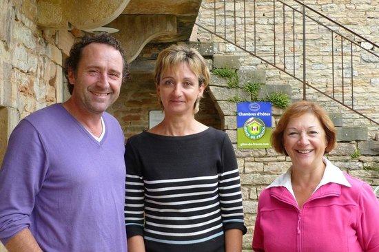La Ferme du Bois de Plottes: Nos hôtes Nathalie et Philippe