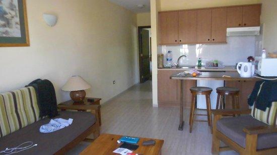 Santa Rosa: the apartment from the patio door