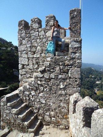 Castle of the Moors : Detalhe da construção da muralha que cerca o Castelo dos Mouros