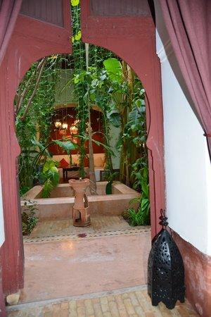 Dar el Calame: vue du patio depuis la chambre