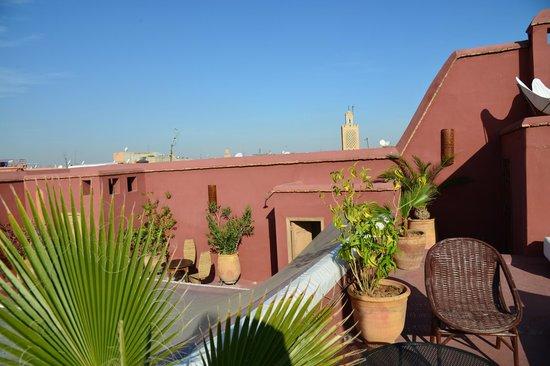 Dar el Calame: terrasse