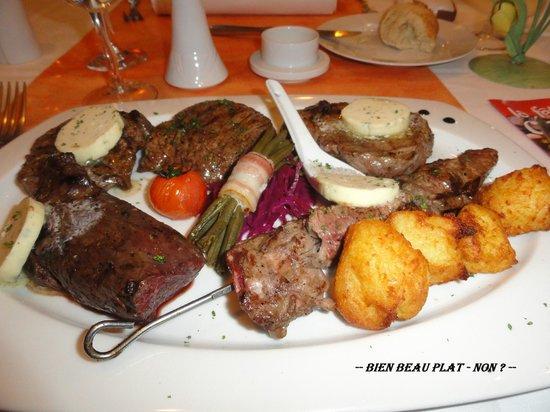 Le Cerf Blanc : - Assiette Mix-grill -