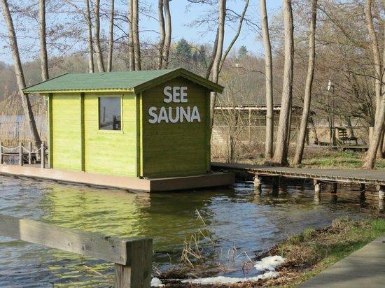 Best Western Seehotel Frankenhorst: Sauna am See