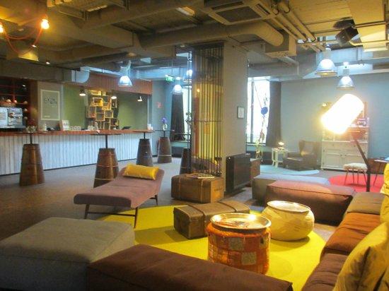 25hours Hotel beim MuseumsQuartier: Aufenthaltsraum im Keller bei den Seminarräumen