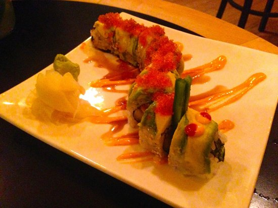 Hongas : Caterpillar Roll - fun to look at, really tasty to eat, great flavours
