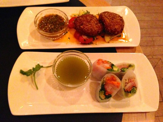 Hongas: Spring Rolls & Crab Cakes, the picture doesn't do the taste justice