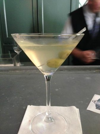 Hotel Provincial: perfect dirty martini by james in the ice house bar