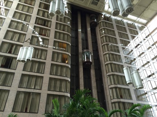 InterContinental Hotel Tampa: Atrium between hotel and office building
