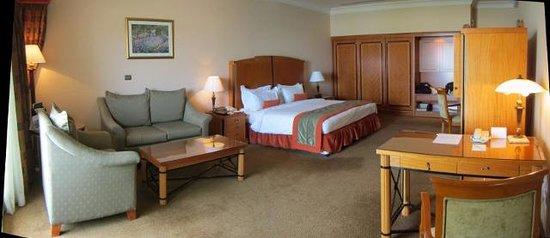 Al Raha Beach Hotel : A spacious Gulf view room