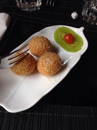 Ginza Gold : Riso con ripieno di crema di fagioli rossi