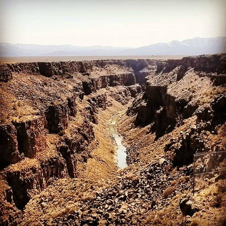 Rio Grande Gorge Bridge: Best image I could get with my cell phone.  Wish I would have brought my camera.