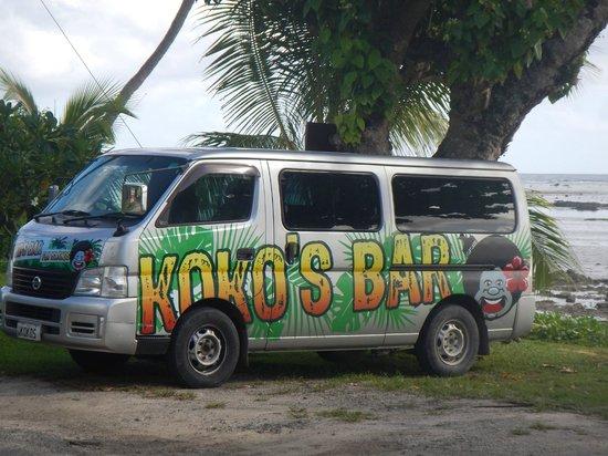 Outrigger Fiji Beach Resort : the free shuttle bus from KOKOS.