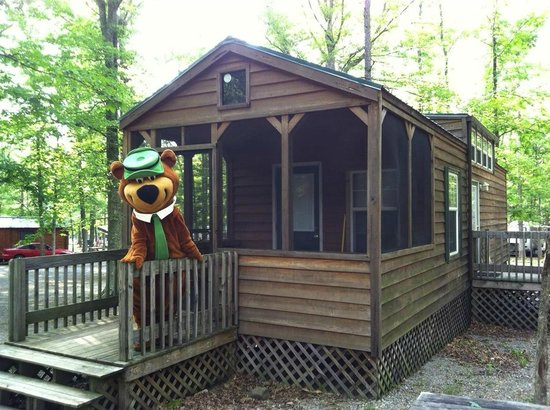 Yogi Bear's Jellystone Park at Natural Bridge: A large deluxe cabin