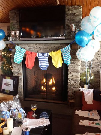 Agave Restaurant U0026 Lounge: The Fire Place Was Beautiful And Made The Baby  Shower So