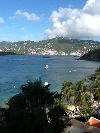 Marriott's Frenchman's Cove: view of Charlotte Amalie from Jost Van Dyke room