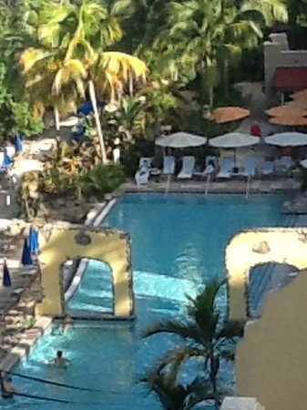 Marriott's Frenchman's Cove: View from room of pool area