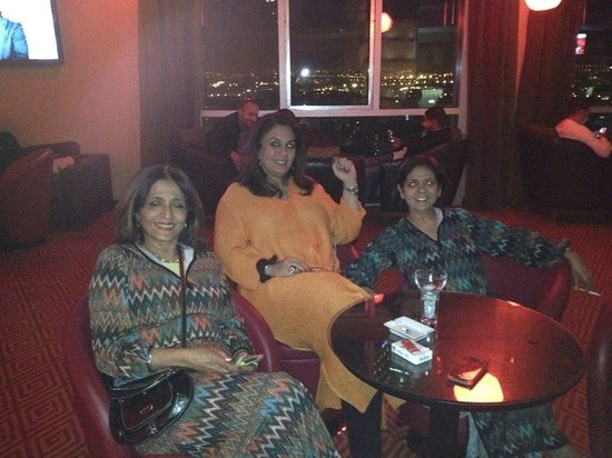 Kenzi Tower Hotel: At the skybar on the 28th floor ! Great view of the city !