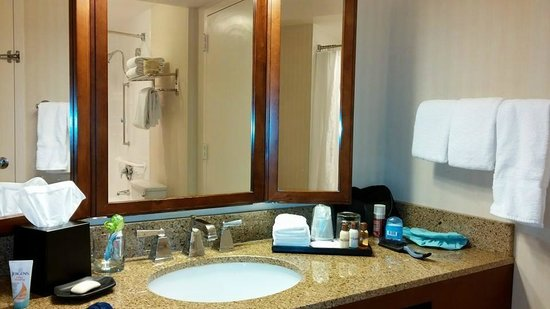 Sheraton Park Hotel at the Anaheim Resort: Bathroom counter