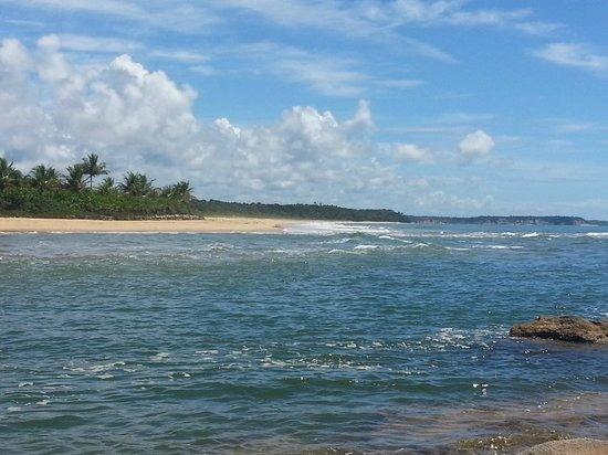Pousada da Barra : vista de la playa del río caraíva
