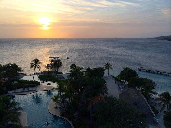 Hilton Curacao: Sunset...