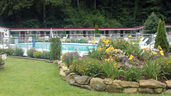 A Holiday Motel: pretty view, owner did all the landscaping himself