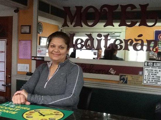 Motel Mediteran: The wonderful owner