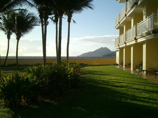 St. Kitts Marriott Resort & The Royal Beach Casino: View of Nevis from the grounds of Marriott St Kitts