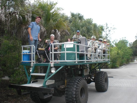 Corkscrew Swamp Sanctuary : Swamp buggy ride allows seniors & those unable to walk enjoy Corkscrew Swamp with a guide to exp