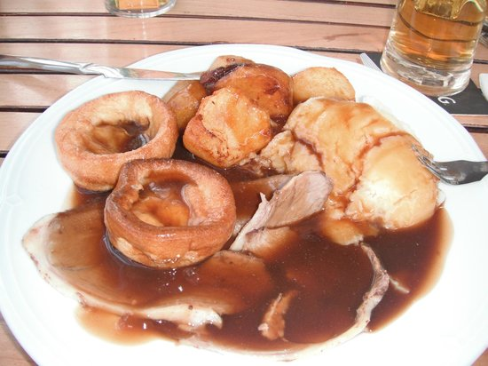 Hotel Costa Caleta: lamb roast dinner at the windmill without veg,scrummy.