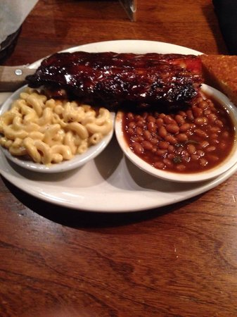 Memphis Barbecue Co.: Half of a slab - wet.