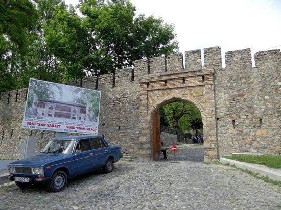 Sheki Khan's Palace : Unterer Zugang beim Parkplatz